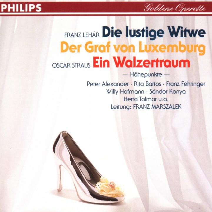 Die lustige Witwe; Der Graf von Luxemburg; Ein Walzertraum 0028943965626