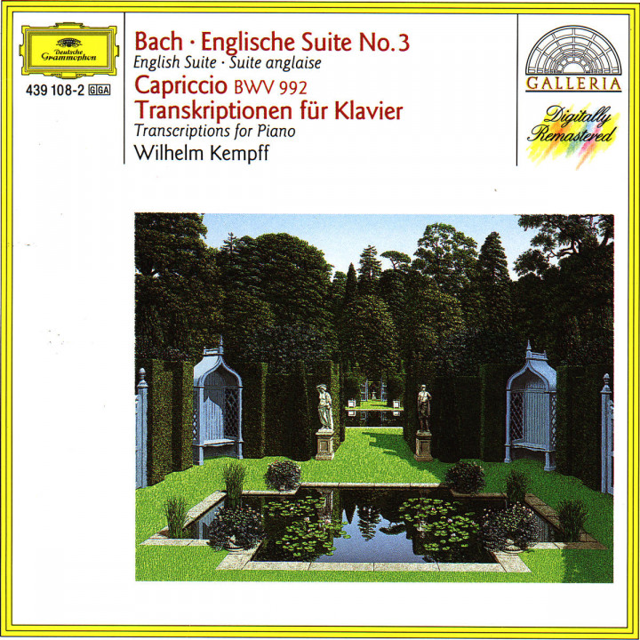 Englische Suite Nr. 3; Capriccio BWV 992; Transcriptions for Piano 0028943910822
