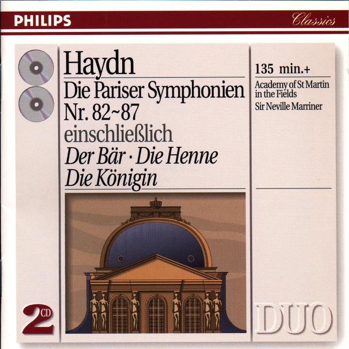 Die Pariser Sinfonien Nr. 82 bis Nr. 87 0028943872728