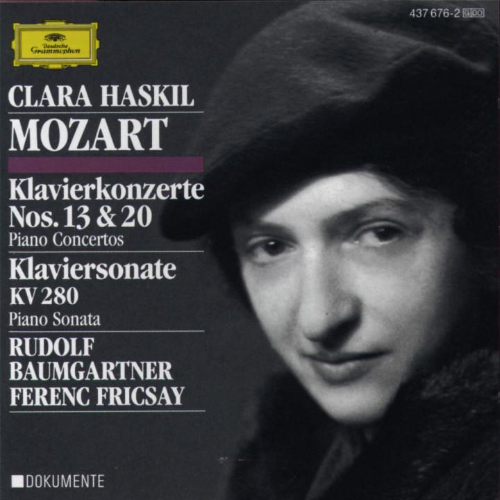 Mozart: Piano Concertos Nos.13 & 20; Piano Sonata K.280 0028943767626
