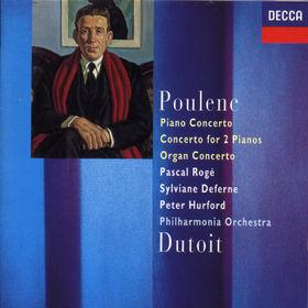 Francis Poulenc, Klavierkonzert; Konzert für 2 Klaviere d-moll; Orgelkonzert g-moll, 00028943654623