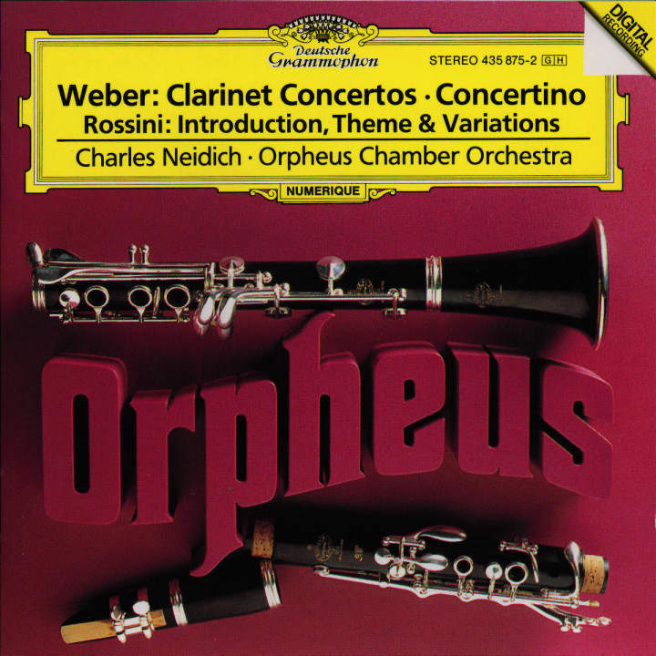 Werke für Klarinette und Orchester 0028943587527