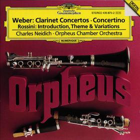 Carl Maria von Weber, Werke für Klarinette und Orchester, 00028943587525