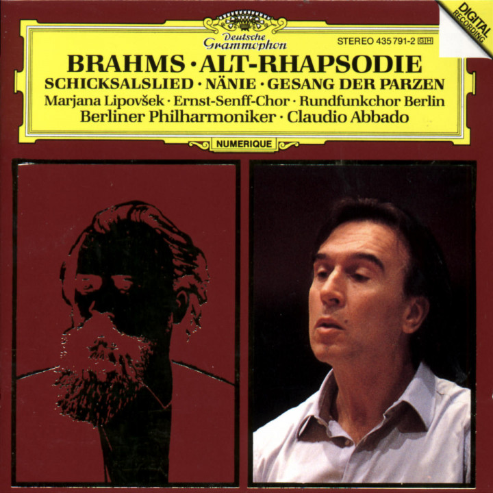 Brahms: Alto Rhapsody; Song of Destiny; Nänie; Song of the Fates 0028943579124