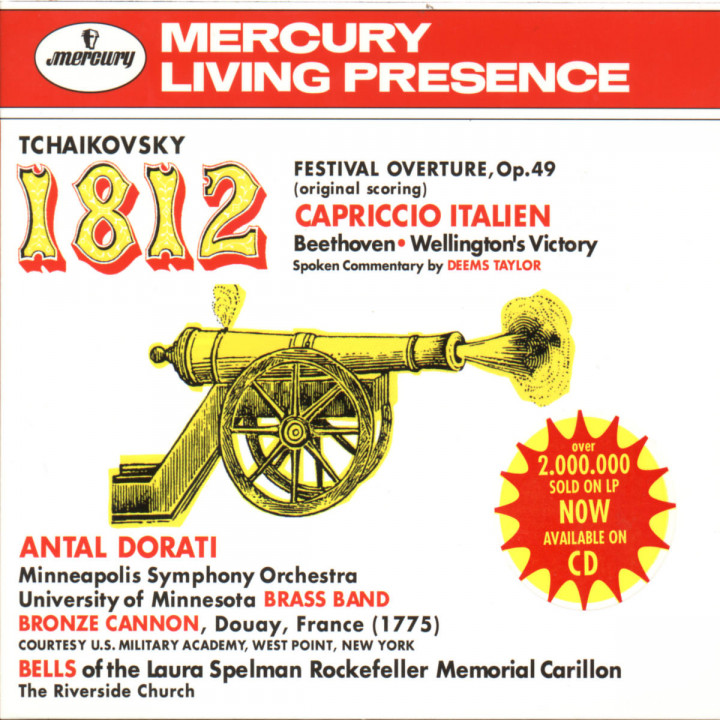 Tchaikovsky: 1812 Festival Overture, Op.49; Capriccio Italien / Beethoven: Wellington's Victory 0028943436025