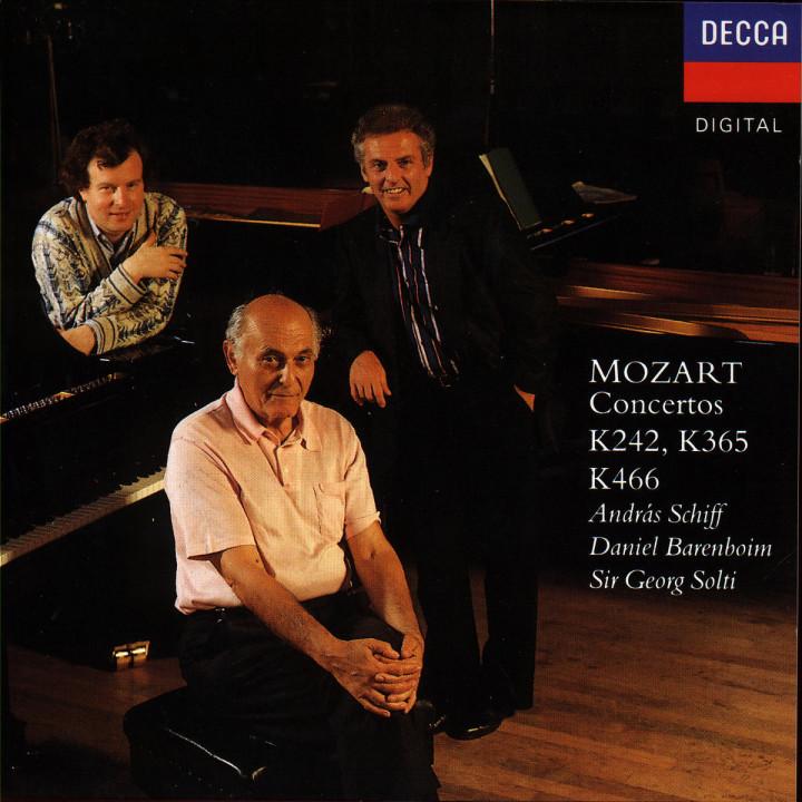 Klavierkonzerte Nr. 7 F-dur KV 242 & Nr. 20 d-moll KV 466; Konzert für zwei Klaviere Es-dur KV 365 0028943023221