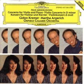 Felix Mendelssohn Bartholdy, Konzert für Violine und Klavier, Konzert für Violine und Streichorchester d-moll, 00028942733824