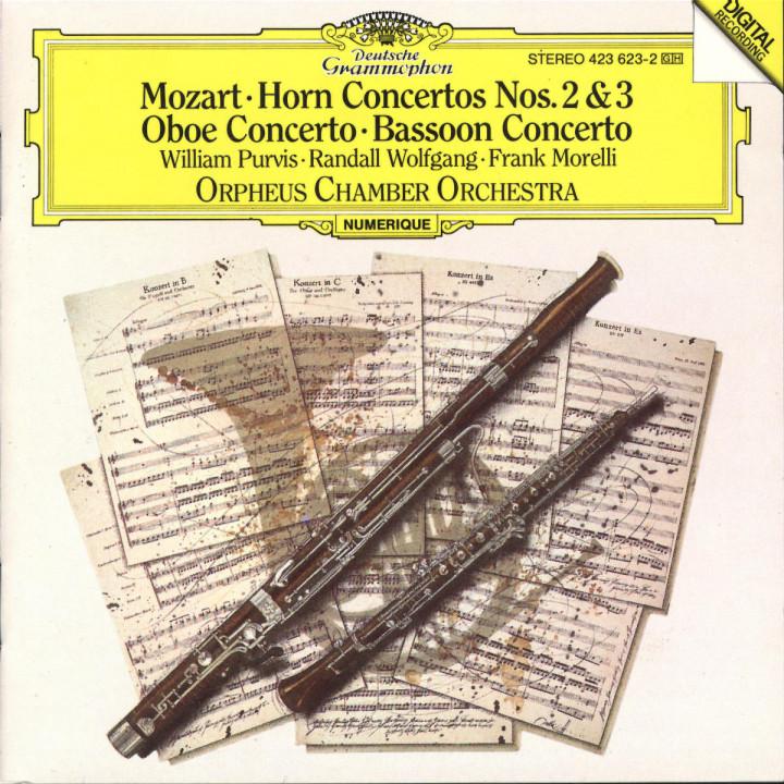 Mozart: Horn Concertos Nos.2 & 3; Oboe Concerto; Bassoon Concerto 0028942362325