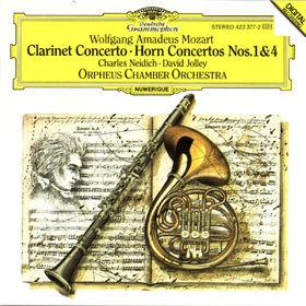 Wolfgang Amadeus Mozart, Mozart: Clarinet Concerto, Horn Concertos Nos.1 K.412 & 4 K.495, 00028942337725
