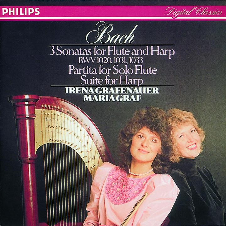 3 Sonaten für Flöte und Harfe; Partita für Soloflöte 0028942206124