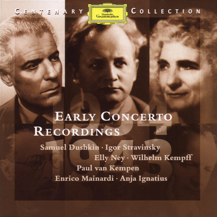 1934-1943; Early Concert Recordings 0028945900227