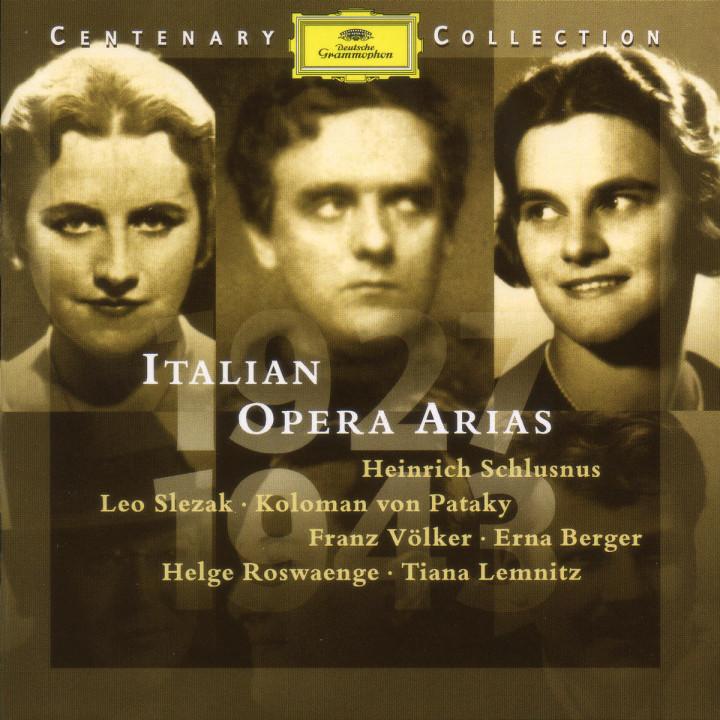 1927-1943; Italienische Opernarien 0028945900526