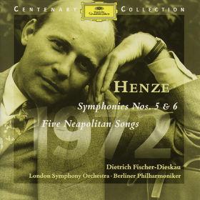 Hans Werner Henze, 1972; Sinfonien Nr. 5&Nr. 6; Fünf neapolitanische Lieder, 00028945903422