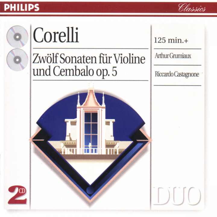 Corelli: 12 Sonatas for violin & harpsichord 0028946230624