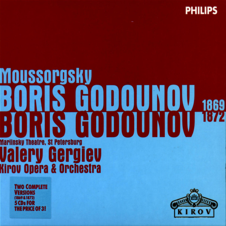 Moussorgsky: Boris Godunov (1869 & 1872 Versions) 0028946223026