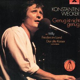 Konstantin Wecker, Genug Ist Nicht Genug, 00042282110824
