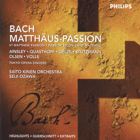 Johann Sebastian Bach, Matthäus-Passion, 00028946262627
