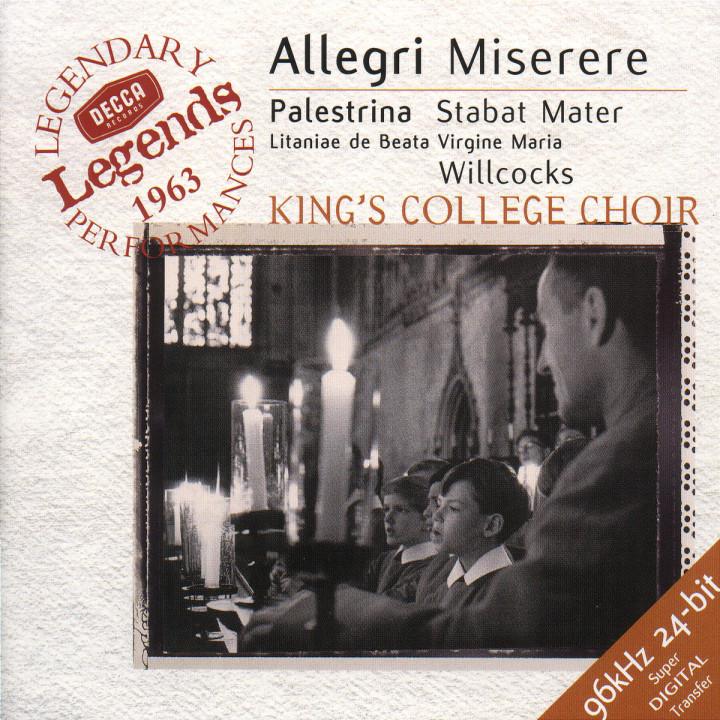 Allegri: Miserere / Palestrina: Stabat Mater 0028946637326