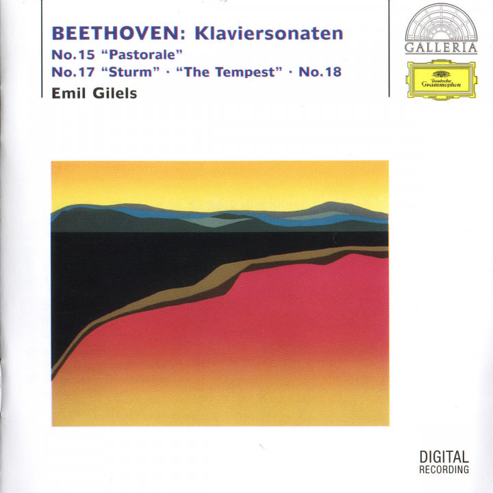 "Beethoven: Piano Sonatas No. 15 ""Pastorale"", No. 17 ""The Tempest"" & No. 18 0028946307922"