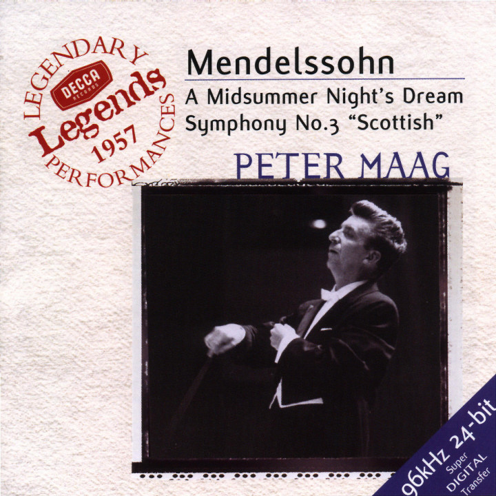 Mendelssohn: Symphony No.3; A Midsummer Night's Dream 0028946699027