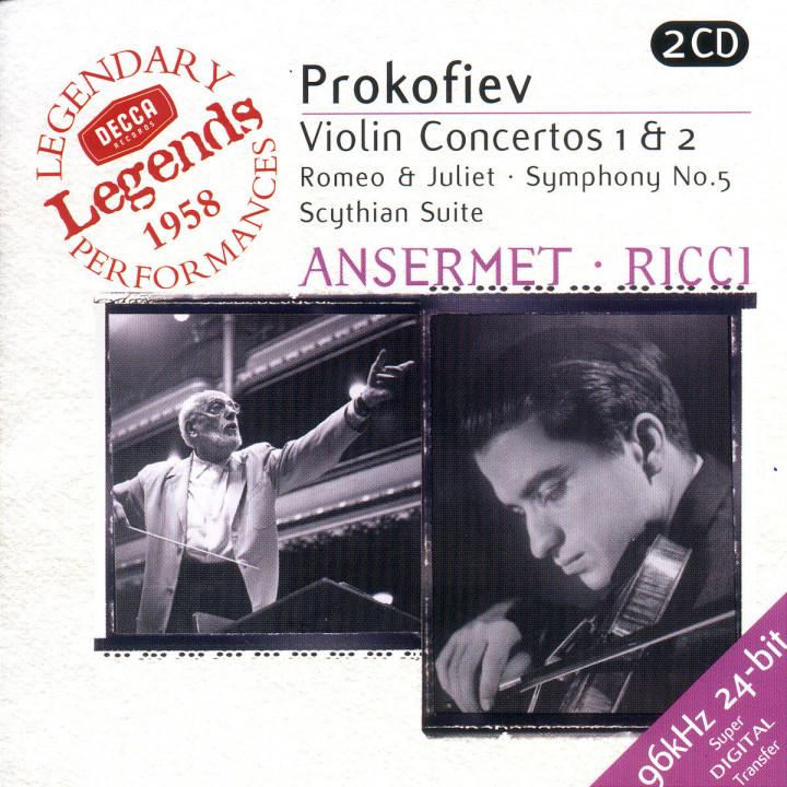 Violinkonzerte Nr. 1 & 2; Romeo und Julia; Sinfonie Nr. 5; Skytische Suite 0028946699625