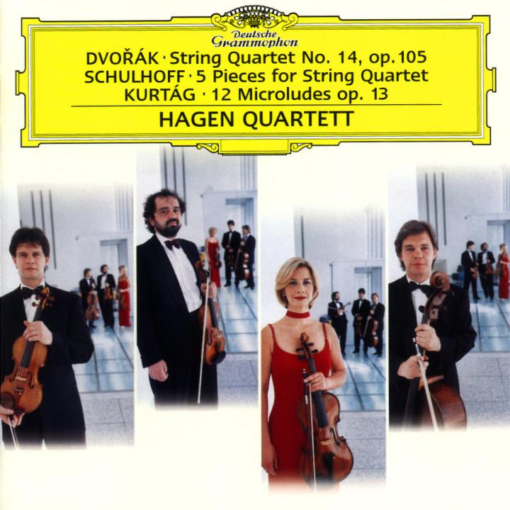 Streichquartett Nr. 14 op. 105; Fünf Stücke für Streichquartett; Hommage à Mihály András 0028946906628