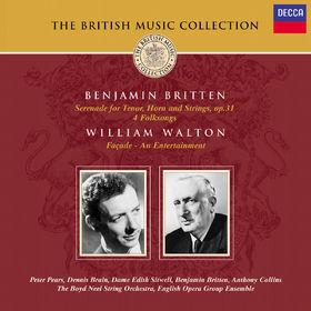 Benjamin Britten, Serenade, Folksongs, Facade, 00028946880128