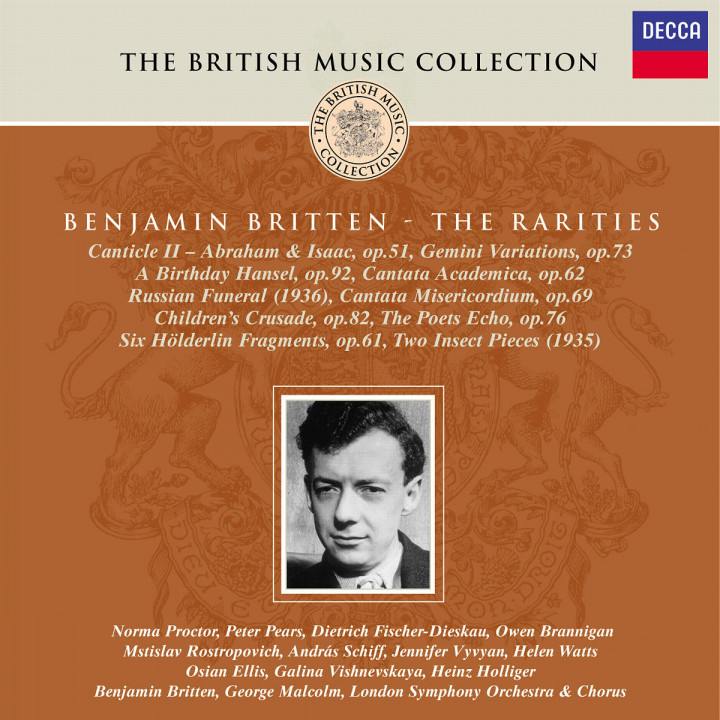 Canticle II; Gemini Variations; Cantata Academica; Cantata Misericordium; Hölderlin Fragmente 0028946881121
