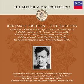 Benjamin Britten, Canticle II, Gemini Variations, Cantata Academica, Cantata Misericordium, Hölderlin Fragmente, 00028946881125