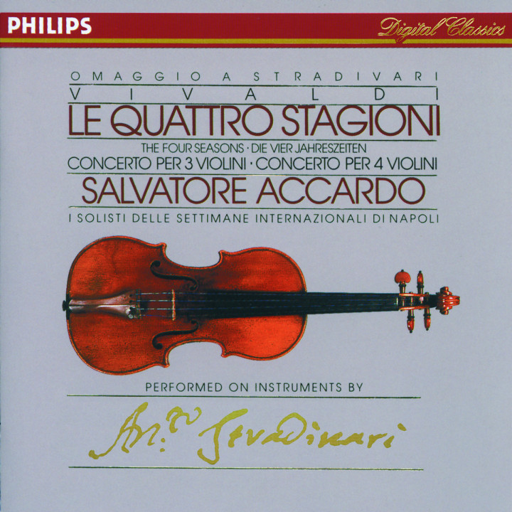 Vivaldi: The Four Seasons; Concertos for 3 & 4 violins 0028942206526