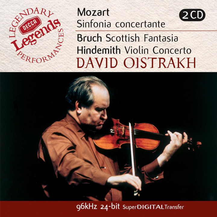 Mozart: Sinfonia Concertante/Bruch: Scottish Fantasia; Hindemith: Violin Concerto 0028947025823