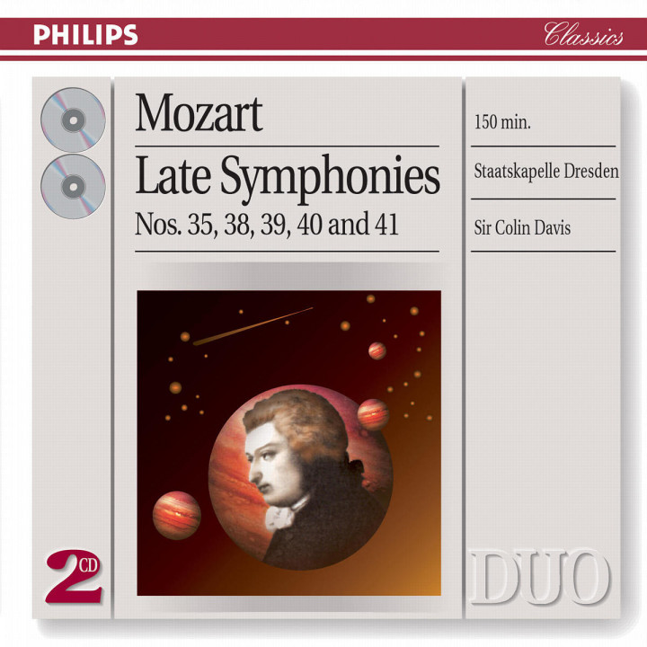 Mozart: Symphonies Nos.35, 38, 39, 40 & 41 0028947054027