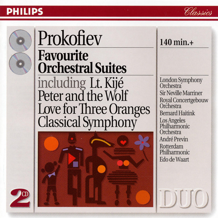 Prokofiev: Favourite Orchestral Suites 0028944227828
