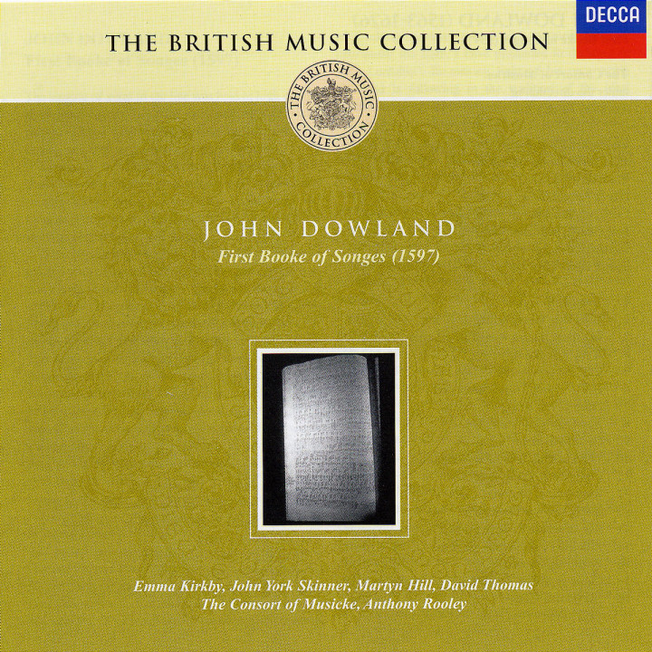 Dowland: First Booke of Songs, 1597 0028947504821
