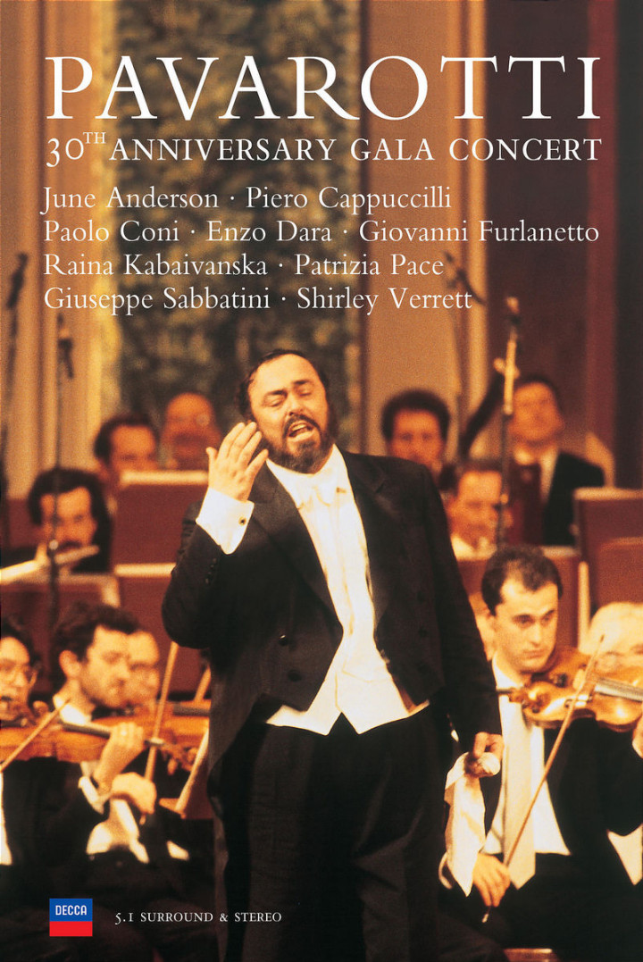 Pavarotti 30th Anniversary Gala Concert 0044007114094