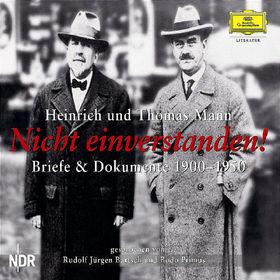 Heinrich Mann, Nicht einverstanden! - Briefwechsel 1900-1950, 00602498719909