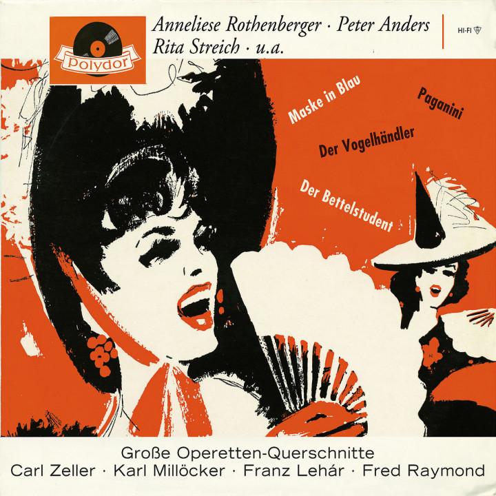 4 Operettenquerschnitte - Der Vogelhändler, Der Bettelstudent, Paganini, Maske in Blau 0028947657163
