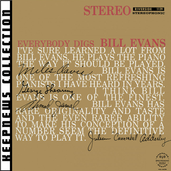 Everybody Digs Bill Evans [Keepnews Collection] 0888072301823