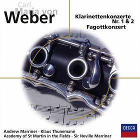 Sir Neville Marriner, Carl Maria von Weber: Klarinettenkonzerte Nr. 1&2, Fagottkonzert, 00028948012589