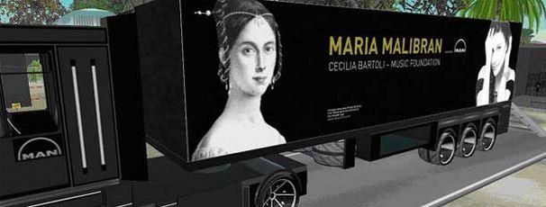 Rollendes Malibran-Museum auf der Datenautobahn