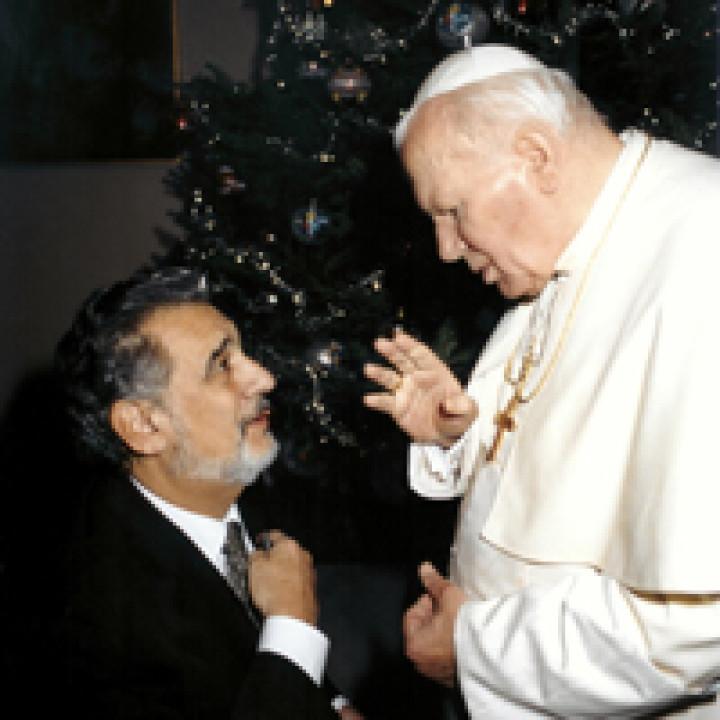 Placido Domingo und Papst Johannes Paul II