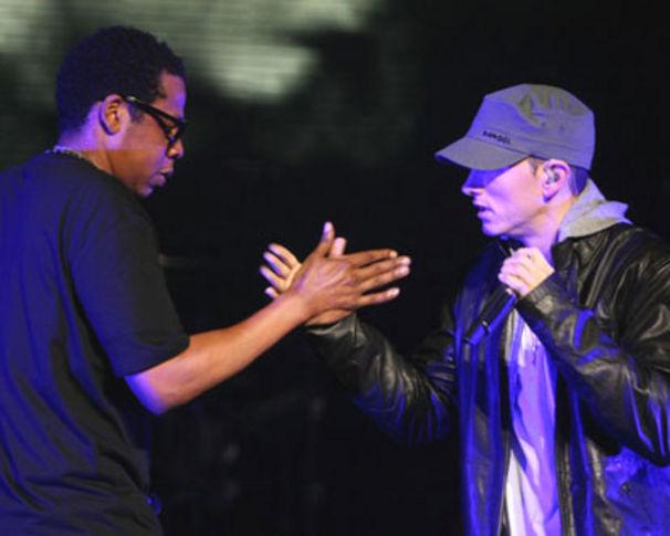 Jay-Z, Jay-Z + Eminem auf einer Bühne!