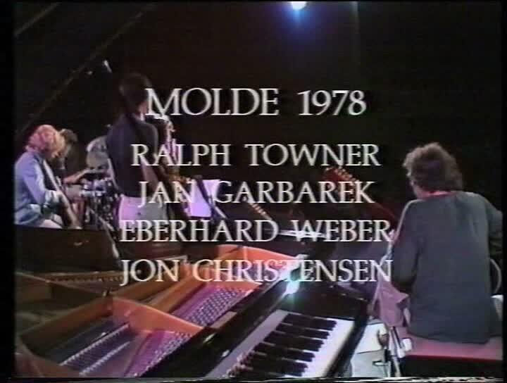 Jan Garbarek, Ralph Towner, Eberhard Weber und Jon Christensen beim Festival in Molde 1978