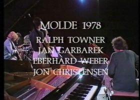 Eberhard Weber, Jan Garbarek, Ralph Towner, Eberhard Weber und Jon Christensen beim Festival in Molde 1978