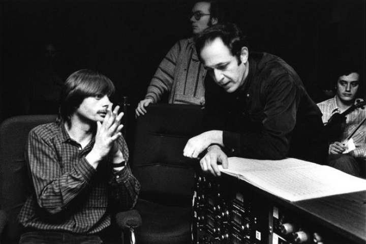 1980 Manfred Eicher and Steve Reich  ©  Deborah Feingold