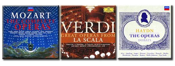 Wolfgang Amadeus Mozart, Die drei großen Opernboxen