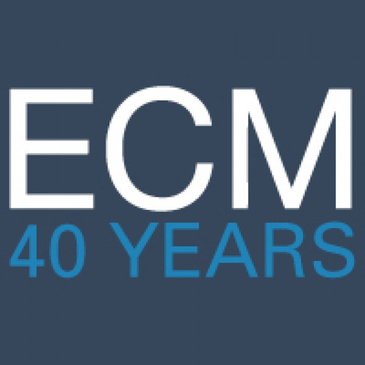 Logo 40 Jahre ECM (Edition of Contemporary Music) www.ecm40.de