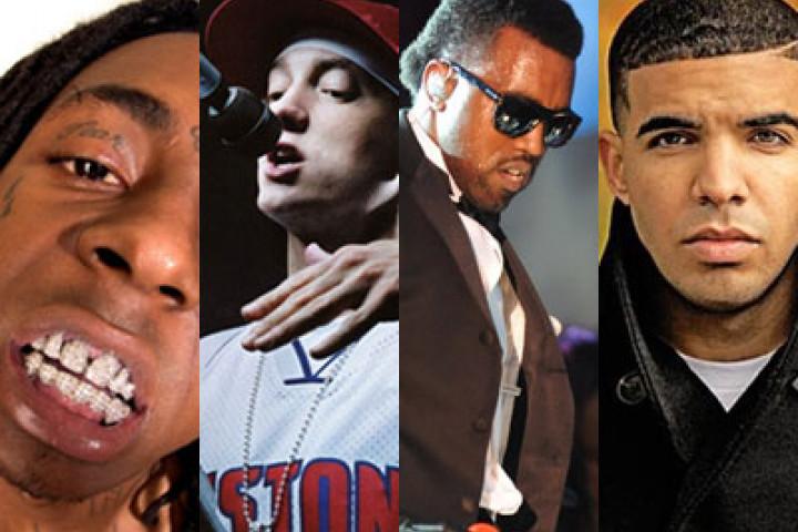 Eminem, Lil Wayne, Drake & Kanye West