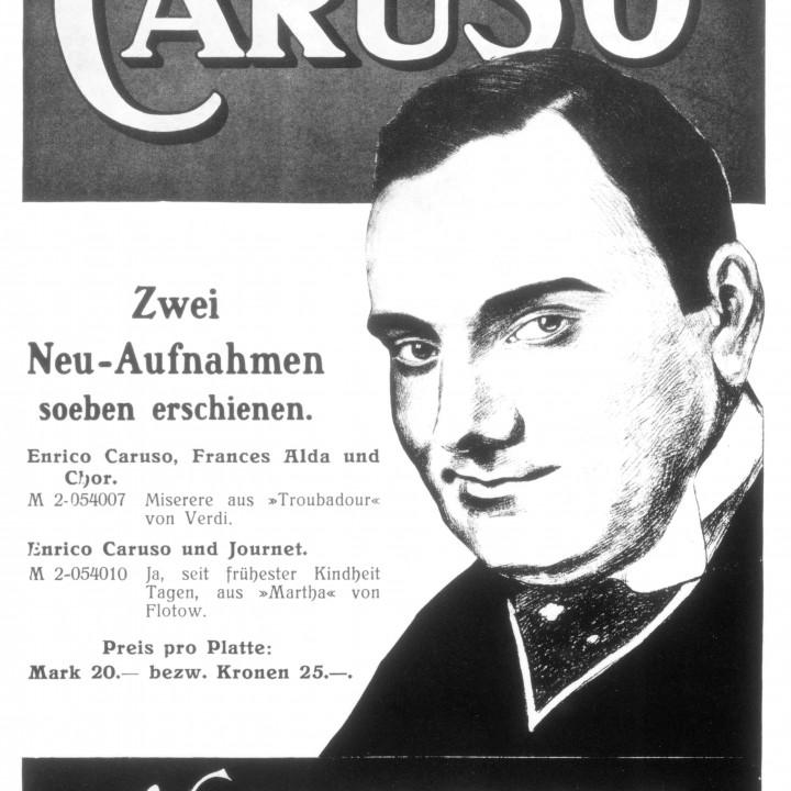 Caruso Werbung ©DG Photo Archiv
