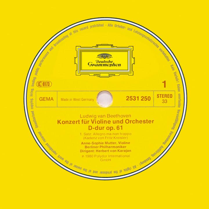 LP 2531250 Beethoven: Konzert für Violine und Orchester op. 61 mit Anne-Sophie Mutter, H.v. Karajan
